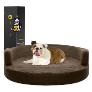 allergy-free-dog-beds-KOPEKS-Deluxe-Memory-Foam-Round-Sofa-Bed