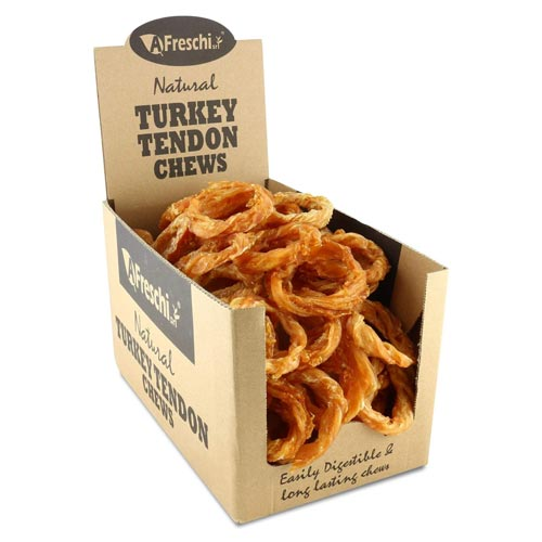 hypoallergenic-dog-treats-AFreschi-Natural-Turkey-Tendon-Chews